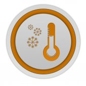 Snow circular icon on white background — Stock Photo