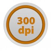 300 dpi circular icon on white background — Stock Photo