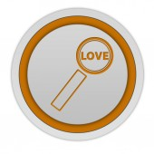 Find love circular icon on white background — Stock Photo