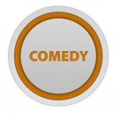 Comedy circular icon on white background — Stock Photo
