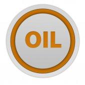 Oil circular icon on white background — Stock Photo