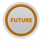 Future circular icon on white background — Stock Photo