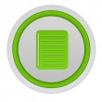 Notebook circular icon on white background — Stock Photo #60632461