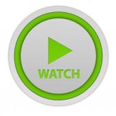 Guarda l'icona circolare su sfondo bianco — Foto Stock