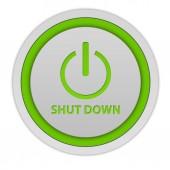 Power circular icon on white background — Stock Photo