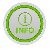 Icono circular información sobre fondo blanco — Foto de Stock