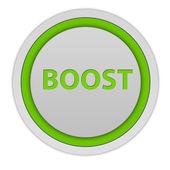 Boost circular icon on white background — Foto Stock