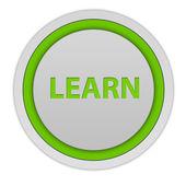 Learn circular icon on white background — Stock Photo