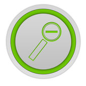 Zoom out circular icon on white background — Stock Photo