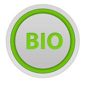 Bio circular icon on white background — Stock Photo