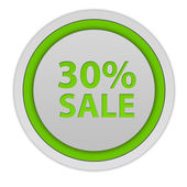 Sale thirty percent circular icon on white background — Stock Photo