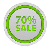 Sale seventy percent circular icon on white background — Stock Photo