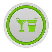 Eat circular icon on white background — Stock Photo