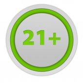 21 круглый символ на белом фоне — Стоковое фото