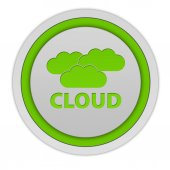 Cloud circular icon on white background — Stock Photo