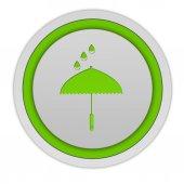Rain circular icon on white background — Stock Photo