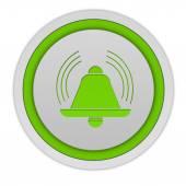 Alarm circular icon on white background — Stock fotografie