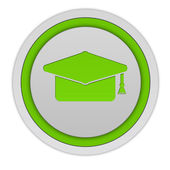 Graduation circular icon on white background — Stock Photo