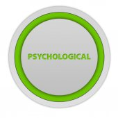 Psychological circular icon on white background — Stock Photo