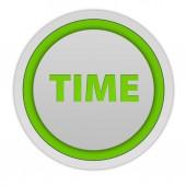 Time circular icon on white background — Stock Photo