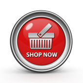 Buy now circular icon on white background — Stock Photo
