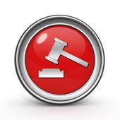 Auction circular icon on white background — Stock Photo