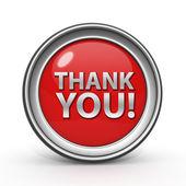 Thank you circular icon on white background — Stock Photo