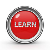 Learn circular icon on white background — ストック写真