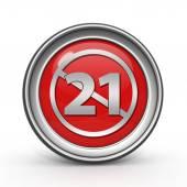 21 icona circolare su priorità bassa bianca — Foto Stock