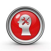 Setting circular icon on white background — Stockfoto