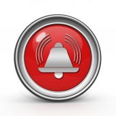 Alarm circular icon on white background — Foto Stock