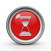Hourglass circular icon on white background — Stock Photo