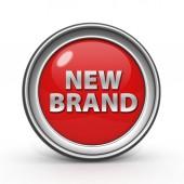 New brand circular icon on white background — Stock Photo