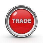 Trade circular icon on white background — Stock Photo