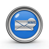 Mms circular icon on white background — Stock Photo