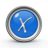 Controleren op circulaire pictogram op witte achtergrond — Stockfoto