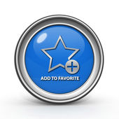 Favorite circular icon on white background — 图库照片