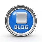 Blogg cirkulär ikon på vit bakgrund — Stockfoto