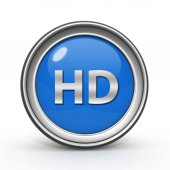 HD circular icon on white background — Photo