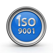 Iso 9001 circular icon on white background — Stock Photo