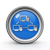 Database circular icon on white background — Stock Photo