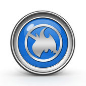 Fire ban circular icon on white background — Foto Stock