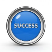 Success circular icon on white background — Stock Photo