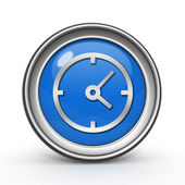 Clock circular icon on white background — Стоковое фото