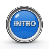 Intro circular icon on white background — 图库照片