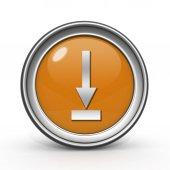 Download circular icon on white background — Stock Photo