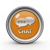 Chat circular icon on white background — Stock Photo