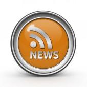 News circular icon on white background — Stock Photo