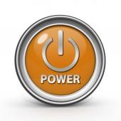 Icono circular energía sobre fondo blanco — Foto de Stock