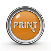 Kruhová ikona tisk na bílém pozadí — Stock fotografie